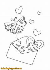 Letter Coloring Template sketch template