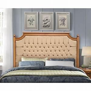 Tete De Lit Chic : t te de lit de style campagne chic h tre vernis et tissu lin ~ Melissatoandfro.com Idées de Décoration