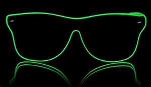 Neon Gläser Way Ferrer Stil Grün