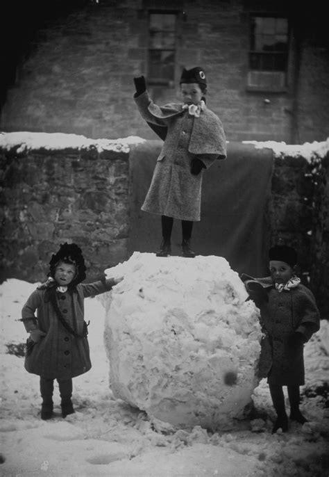Winter scene with children, 1880s | These three children had… | Flickr