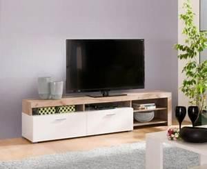 Meuble Tele Gris : meuble tv fiona bois gris et blanc meubles tv but ~ Teatrodelosmanantiales.com Idées de Décoration