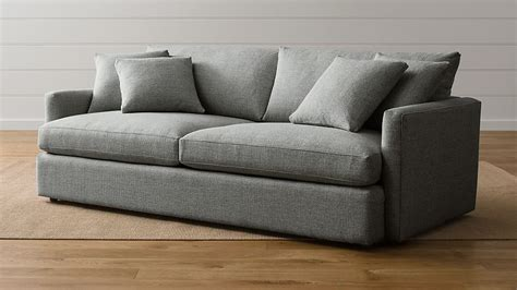 crate and barrel settee lounge ii grey crate and barrel