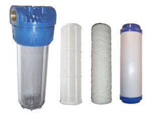 hauswasserwerk mit vorfilter wasserfilter vorfilter mit ohne kartusche aktivkohle hauswasserwerk pumpen ebay