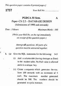 Pgdca Question Paper Download