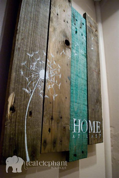 pallet art dandelion  home wall