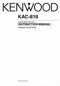 Kac-818 Manuals