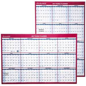Dry Erase Yearly Wall Calendar 2017