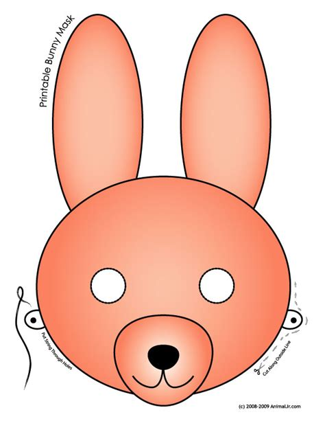 free pattern printables printable easter bunny and baby chick masks woo jr