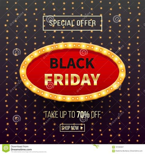 black friday sale banner background with light frame stock