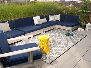 garten im quadrat outdoor teppich manchester grau weiss With balkon teppich mit tapeten in grau