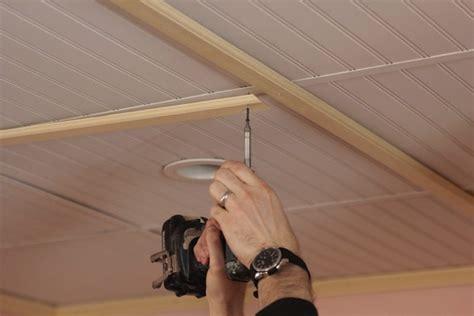 Beadboard Panels On Ceiling :  Diy Beadboard Planked Ceiling