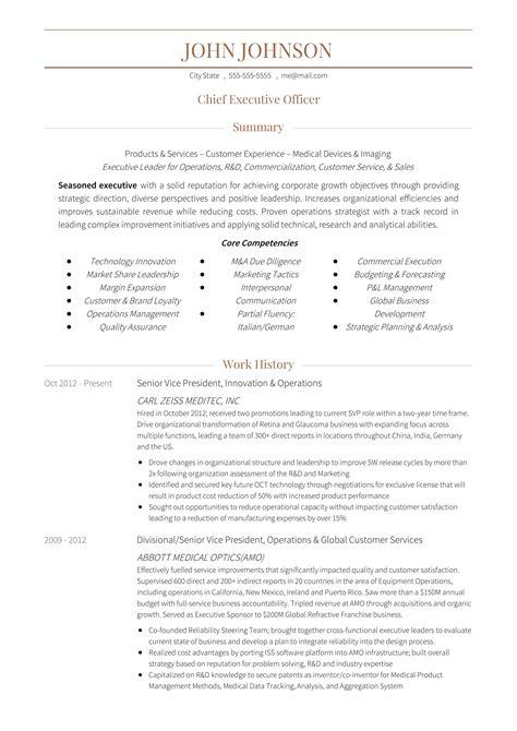 Free Resume Tem by 24 Award Winning Ceo Resume Templates