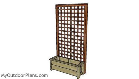 planter box  trellis plans myoutdoorplans