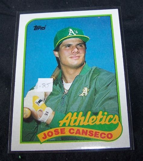 But in this time of card shops on every corner, everybody was forgetting about one of the most basic rules of economics: 1989 Topps Baseball Card #500 Jose Canseco Athletics - Easy Street Discount