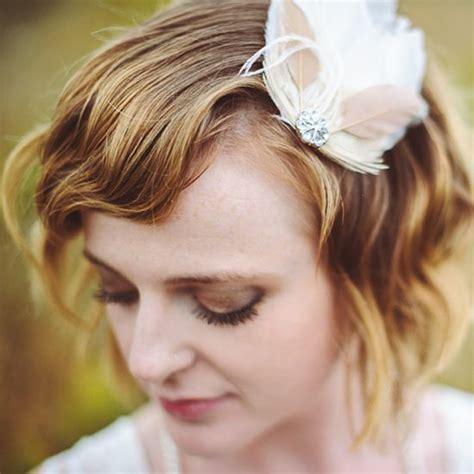 stunning wedding hairstyles  short hair