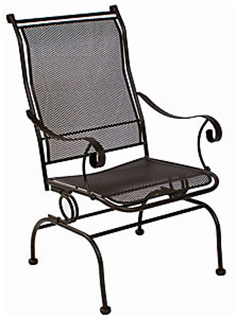 sports patio furniture boulder meadowcraft alexandria coil chair patio