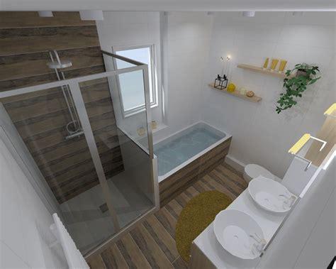perspective salle de bain r 233 novation salle de bain dans les tons chaleureux 224 rennes pac 233 bains et solutions