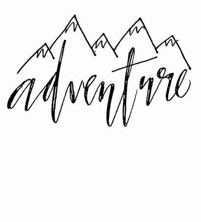 Quotes Calligraphy Lettering Fonts Hand Adventure Tattoos