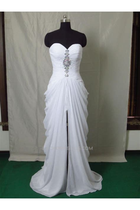 modest long white prom dresses evening party gowns ed