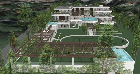 proposed  square foot los angeles mega mansion homes   rich