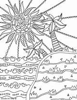 Coloring Doodle Alley Summertime Sheets Scene Adult Simple Colour Ocean Tree Colouring Printable Zen Zendoodle Nature Getcolorings Doodles Mediafire Rocks sketch template