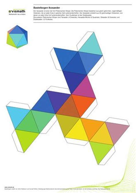 icosahedron net  triangles platonic solids
