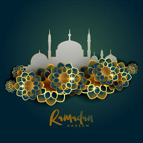 ramadan kareem islamic greeting background eikones
