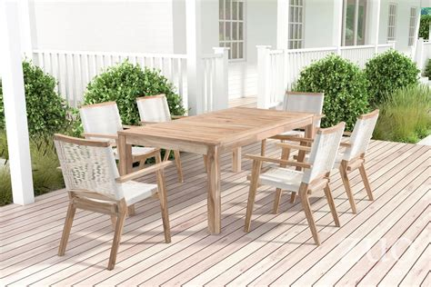 zuo outdoor west port dining table  white wash boost home