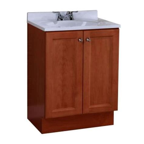 glacier bay all in one 24 in w vanity combo in amber with