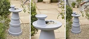 Abreuvoir A Oiseaux Pour Jardin : diy pour fabriquer un abreuvoir pour les oiseaux tuto r cup 39 pot de fleurs ~ Melissatoandfro.com Idées de Décoration