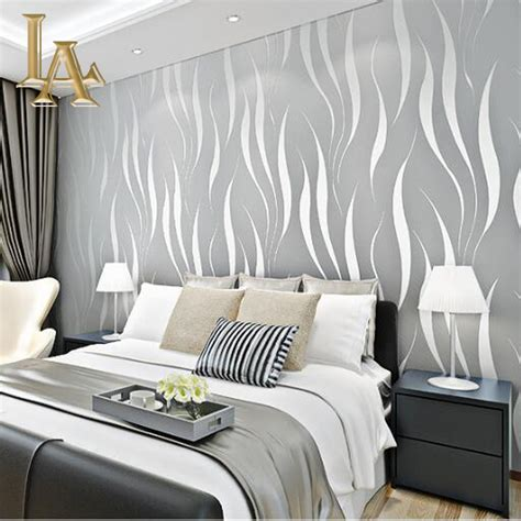 fashion embossed flocking  striped wallpaper  walls