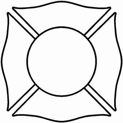 Maltese Cross Fire Blank Clipart Clip Department