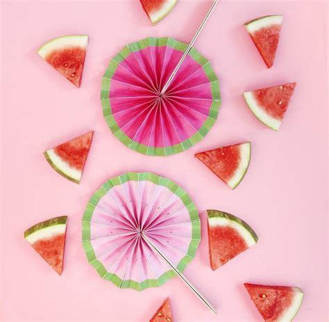 large decorative paper fans watermelon paper fan craft allfreepapercrafts com