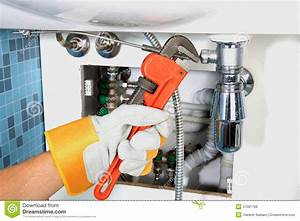 Plumbing Work And Sanitary Engineering Stock Photo - Image ...