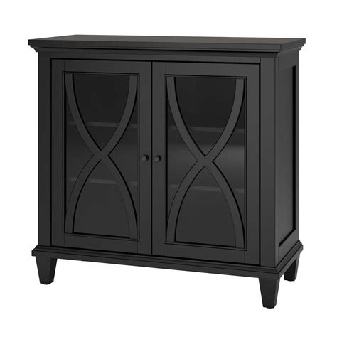Black Accent Cabinet by Ameriwood Home Satinwood 2 Door Black Accent Cabinet