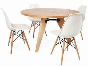 table prouve ronde et 4 chaises With table et chaises design