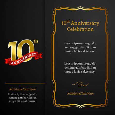 Premium Vector 10th anniversary invitation card template