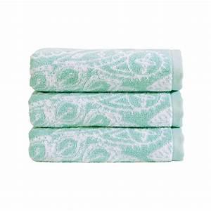 Buy christy secret garden towel aqua bath towel amara for Aqua towels bathroom