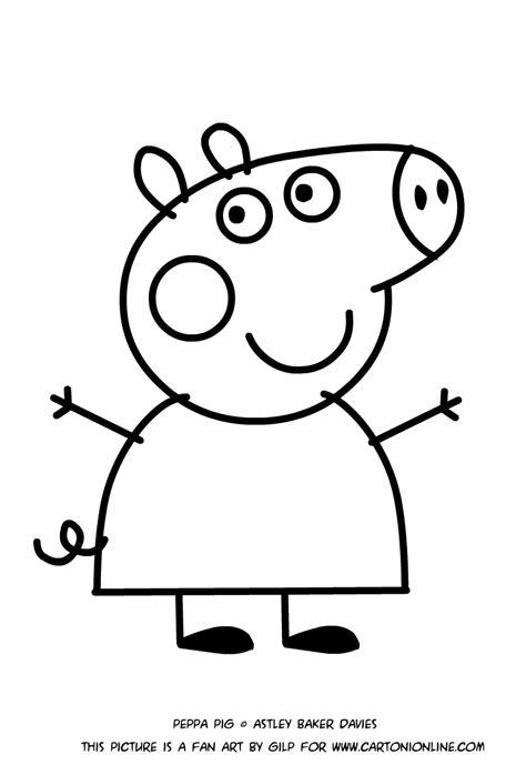 disegno da stare peppa pig impressionante disegni di peppa pig da colorare e stare