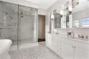 White Marble Bathroom Ideas White Marble Bathroom Transitional Bathroom Carole Reed Design