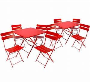 Salon De Jardin Pliant : salon de jardin pliant rouge mat 8 places 375 salon d 39 t ~ Teatrodelosmanantiales.com Idées de Décoration