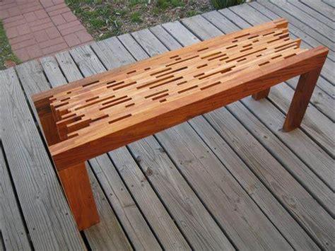 diy mahogany pallet bench  pallets