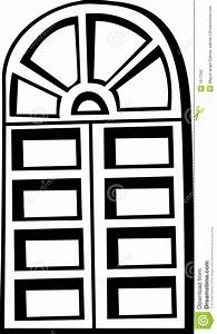 Old Closed Window Vector Illustration Stock Photography ...