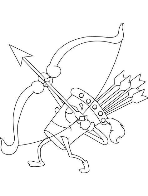 wow quiver shooting coloring page coloring sheets
