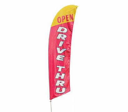Feather Flag Drive Thru Open Flags Kit