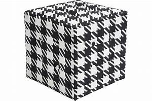 Damier Noir Et Blanc : pouf damier noir et blanc pouf design pouf g ant pas cher ~ Dallasstarsshop.com Idées de Décoration