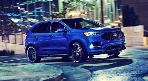 ford edge st  fastest  premium suv ford tips