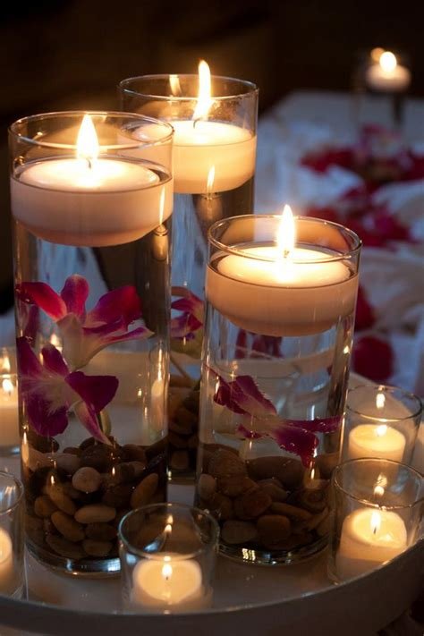 table decorations candles candle centerpieces weddings candle centerpieces