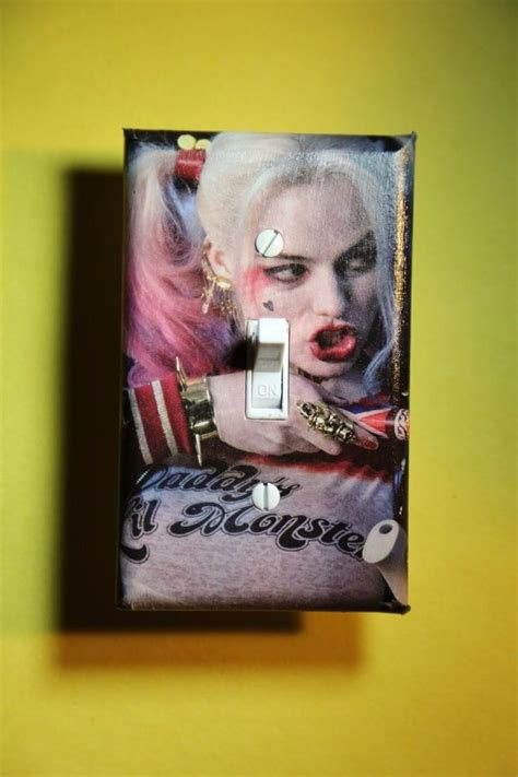 harley quinn suicide squad light switch cover boys girls