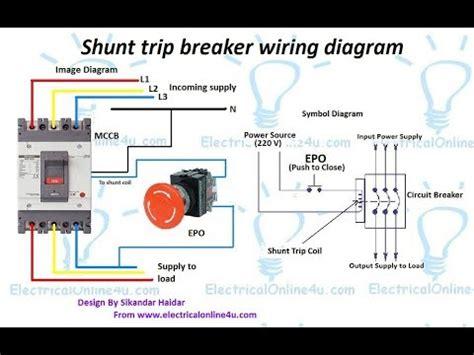 shunt trip breaker wiring diagram  urdu hindi